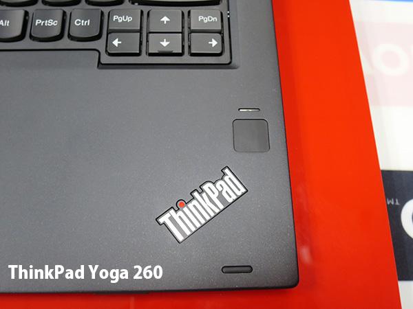 ThinkPad Yoga 260 タッチ式指紋認証センサー
