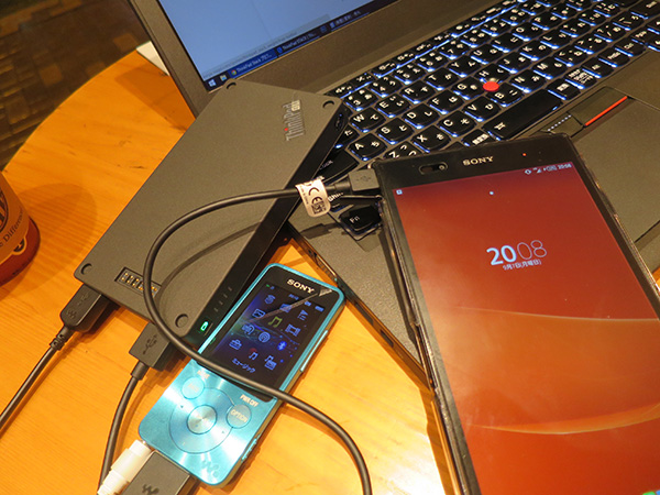 ThinkPad X250 lte内蔵ではなかったため出先ではスマホでテザリング