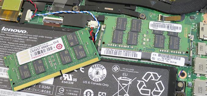 X260メモリ交換トランセンドの16GBを使いました