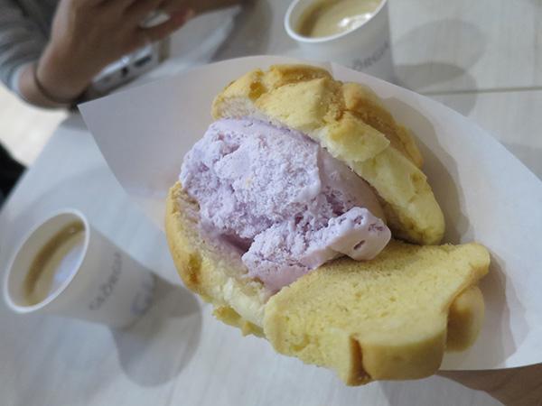 紅芋 メロンパンアイス