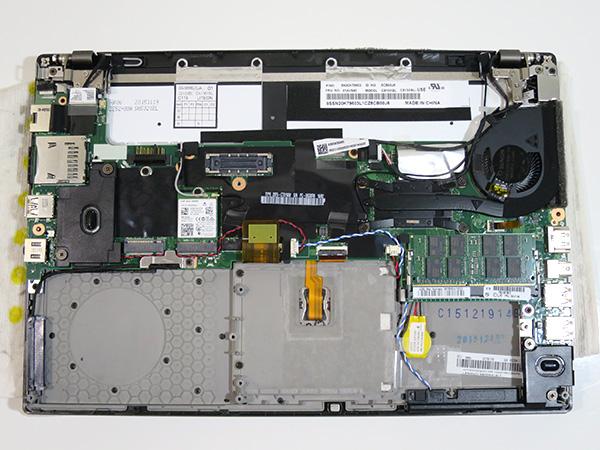 x260 SSDとフロントバッテリーを外してみる
