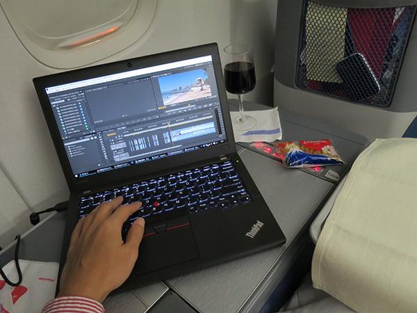 ThinkPad X260 スペースキーが長い英語キーボードで動画編集