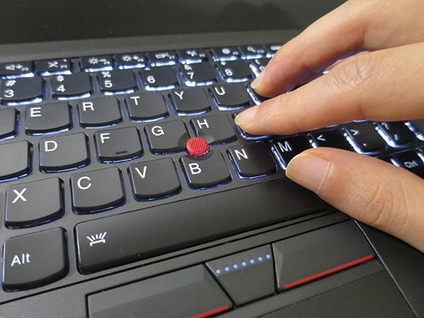 X260 英語キーボードはスペースキーが長い