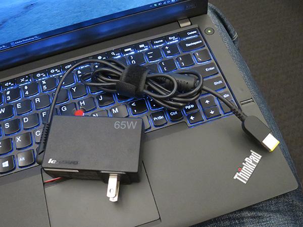 ThinkPad X260 と65WトラベルACアダプタは相性抜群