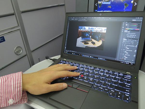ThinkPad X260 12.5インチ液晶でPhotoshop