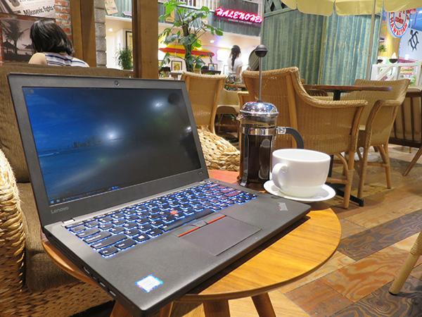 空いてる穴場カフェ 横浜のホノルルコーヒーでフレンチプレスとThinkPad X260