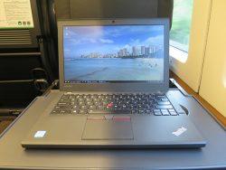 ThinkPad X260を成田エクスプレスグリーン車内で開いて一仕事